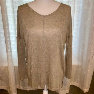 Tan Quarter Sleeve Knit Top